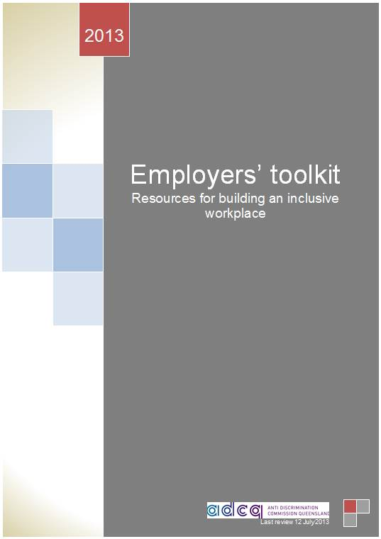 Employers Toolkit title page