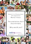 Nearly 1 in 2 Australians will experience mental illness. The statistics don't discriminate. Why would you?