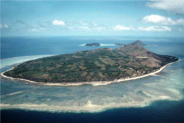 Aerial view of the island of Mer