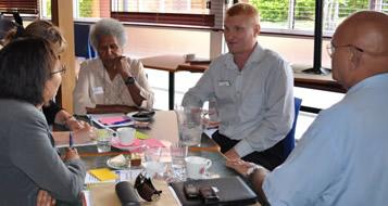Conversation leader and participants