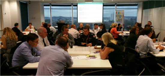 Groups discussions in progress at the Budget Accommodation Forum