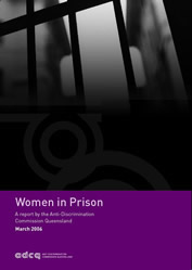 Prison bars on cover of Women in prison report